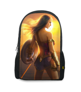 wonder woman printed backpacks